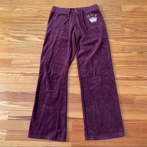 Juicy velour purple track pants size medium